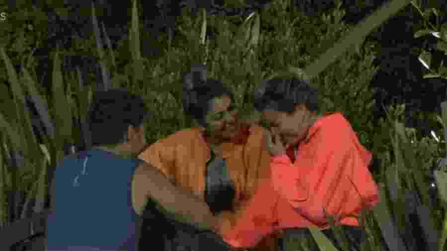 Lucas, Hariany e Thayse em A Fazenda 11 (Foto: Reprodução/PlayPlus) - Lucas, Hariany e Thayse em A Fazenda 11 (Foto: Reprodução/PlayPlus)