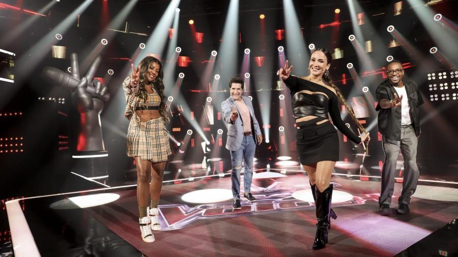 """O time de técnicos do """"The Voice+"""": Ludmilla, Daniel, Claudia Leitte e Mumuzinho  - Reprodução / Internet"""