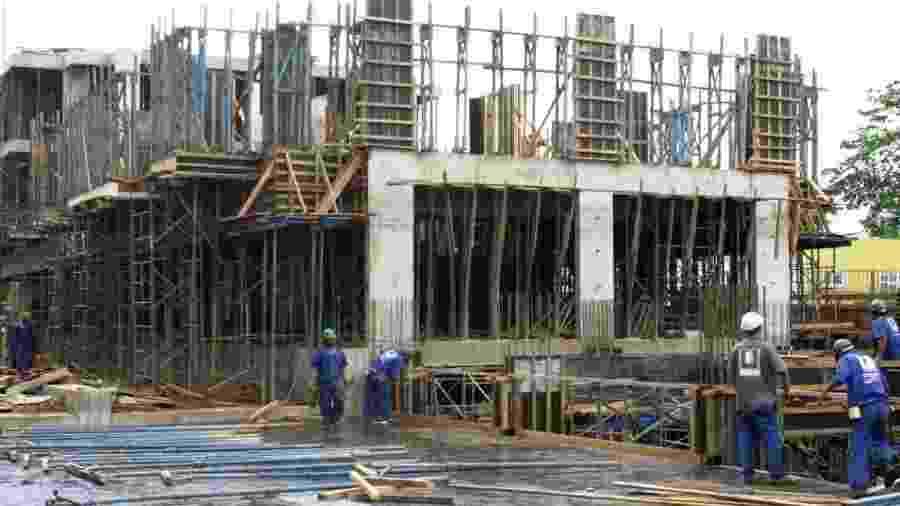 Trabalhadores da construção civil                               -                                 Antonio Cruz/Agência Brasil