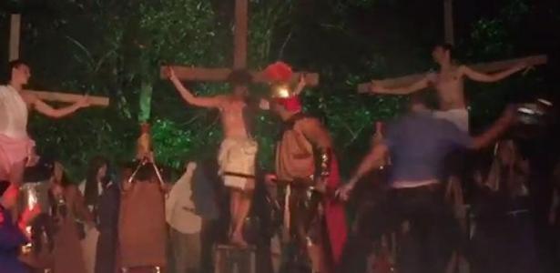 """""""Paixão de Cristo"""" em Nova Hartz é palco de agressão - Foto: Facebook/Reprodução"""