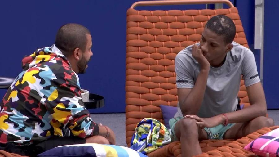Projota e Lucas Penteado conversam no BBB 21  - Reprodução / Internet