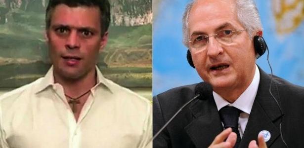 López e Ledezema fizeram apelos na última semana para que as pessoas não votassem no domingo (30)