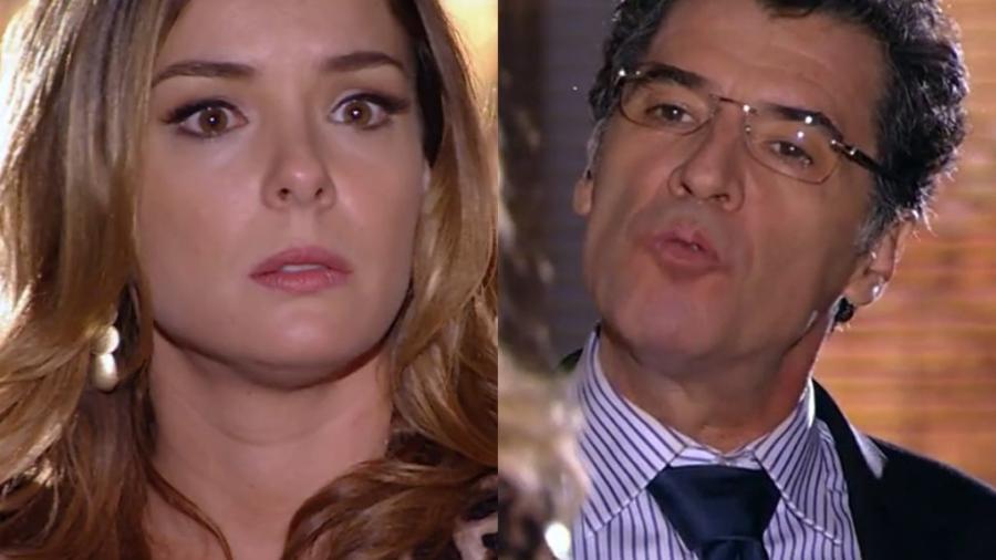 Regiane Alves e Paulo Betti são Cris e Jonas em A Vida da Gente (Reprodução / Globo) - Reprodução / Internet