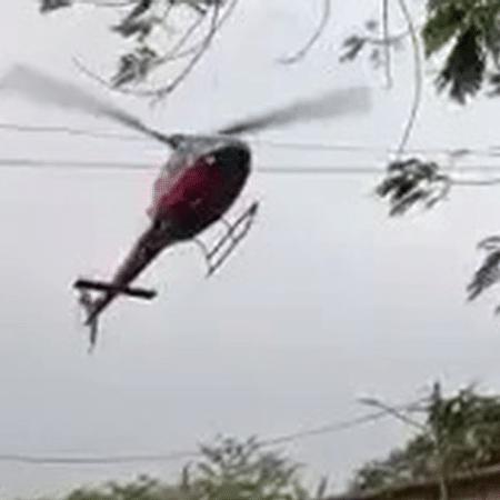 Sequestro do helicóptero no RJ - Reprodução