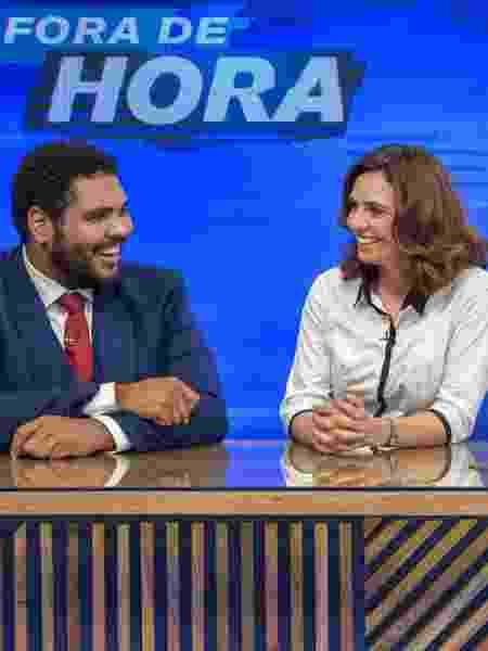 """Paulo Vieira e Renata Gaspar do """"Fora de Hora"""" - Reprodução / Internet"""