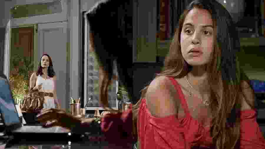 Lara (Rosanne Mulholland) e Leila (Jade Cardozo) de Malhação - Toda Forma de Amar (Reprodução/TV Globo) - Reprodução/TV Globo