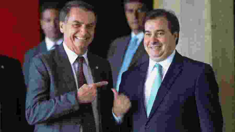 Presidente Jair Bolsonaro e o presidente da Câmara, Rodrigo Maia - Jose Cruz/Agência Brasil