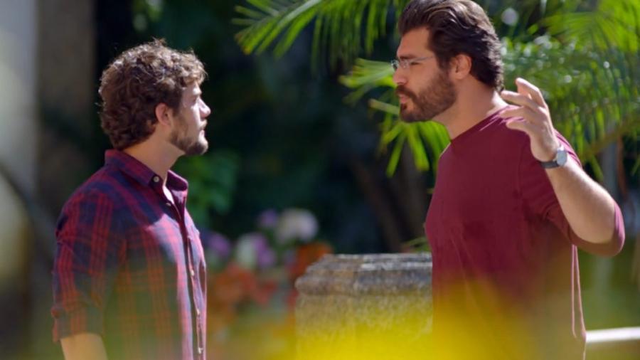 Rodrigo e Lúcio discutem em A Vida da Gente (Reprodução/Globo) - Reprodução / Internet