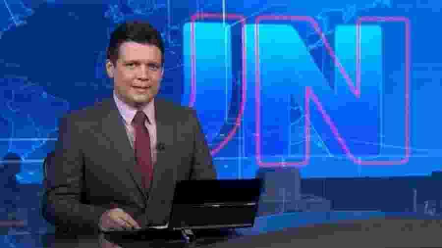 Marcelo Magno no Jornal Nacional (Divulgação/TV Globo) - Reprodução / Internet