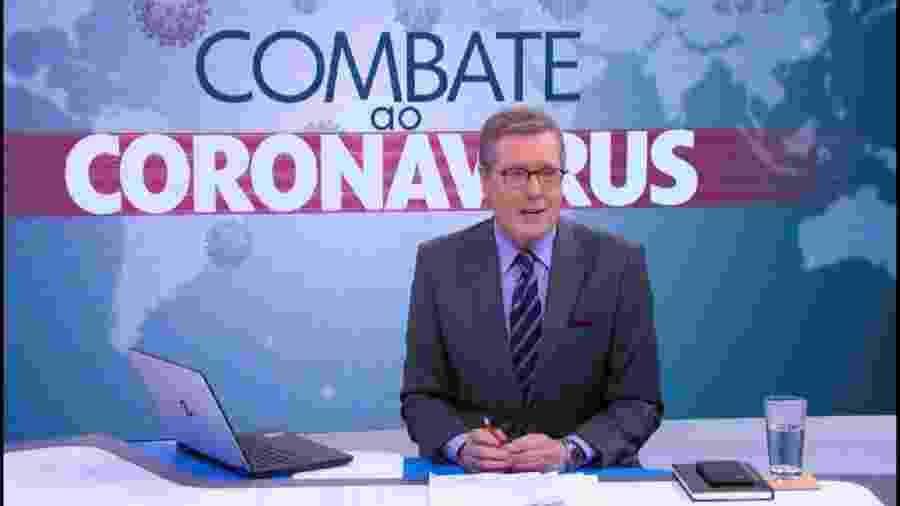 Márcio Gomes comanda o Combate ao Coronavírus na TV Globo (Foto: Reprodução/TV Globo) - Reprodução / Internet