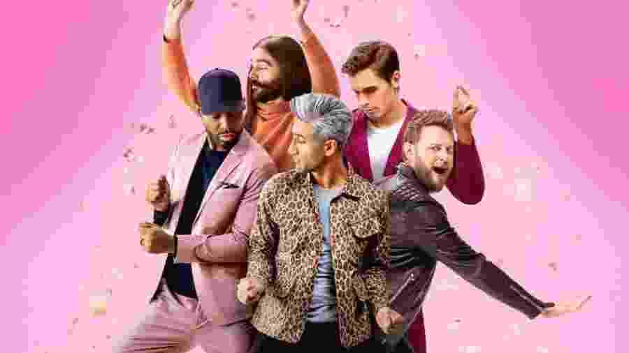 """O elenco da versão americana de """"Queer Eye"""" - Divulgação: Netflix"""