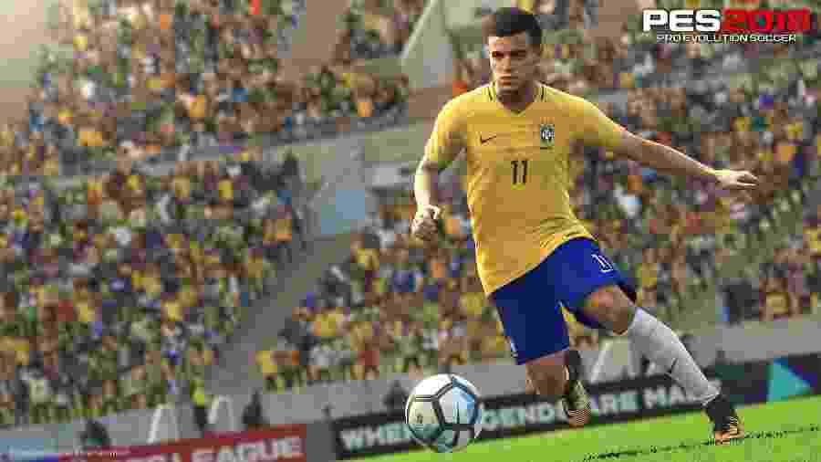 """Após saída de Neymar do Barcelona, Philippe Coutinho se tornou a estrela da capa brasileira de """"PES 2018 """" -"""