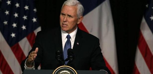 O vice-presidente norte-americano, Mike Pence - Foto: CLAUDIO REYES / AFP