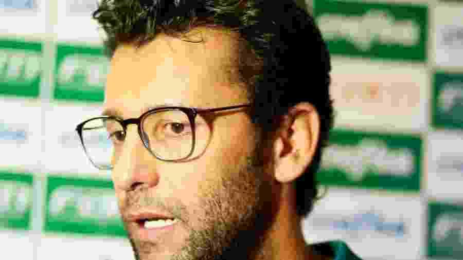 Alberto Valentim comandou o Palmeiras interinamente diante do Atlético-GO - Kelly Nascimento/NascimentoSouzaPress/Estadão Conteúdo