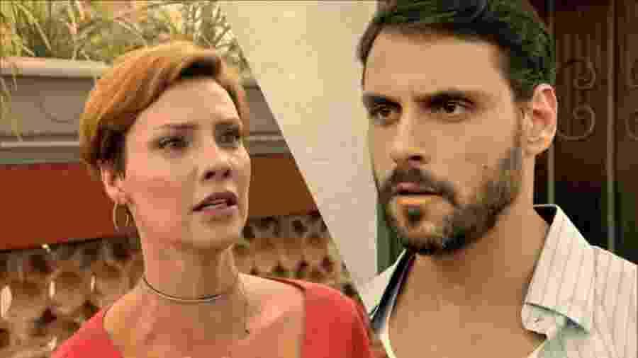Sophia (Camila Rodrigues) e Antônio (Felipe Cunha) em Topíssima (Reprodução/Record TV). - Sophia (Camila Rodrigues) e Antônio (Felipe Cunha) em Topíssima (Reprodução/Record TV).