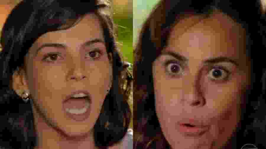 Mila (Tainá Müller) e Natália (Daniela Escobar) de Flor do Caribe (Reprodução - TV Globo) - Reprodução / Internet