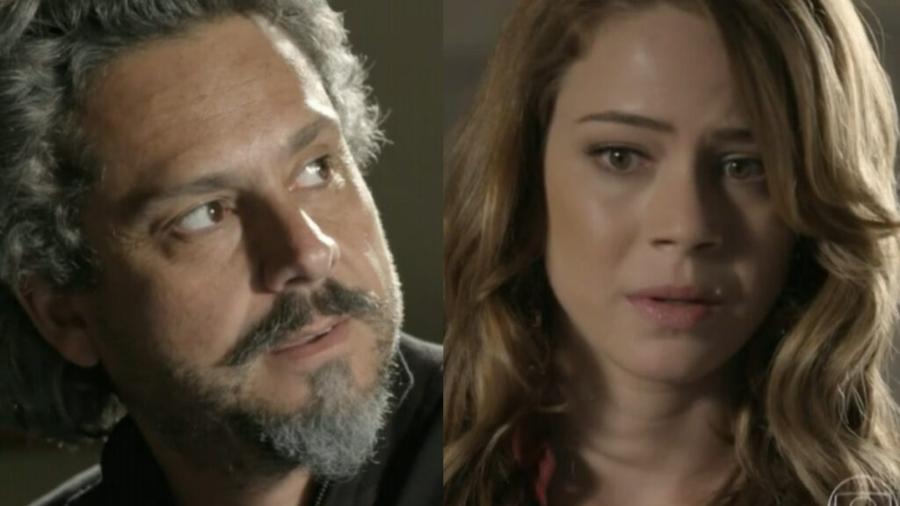 José Alfredo (Alexandre Nero) e Cristina (Leandra Leal) em Império (Reprodução/Globo) - Reprodução / Internet