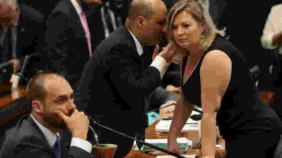 Joice Hasselmann e Eduardo Bolsonaro, antes aliados, agora trocam farpas - Fábio Rodrigues Pozzebom/ABr