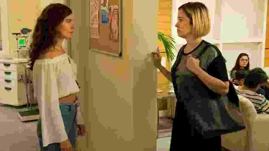 Rita (Alanis Guillen) e Lígia (Paloma Duarte) em Malhação (Reprodução/TV Globo). - Rita (Alanis Guillen) e Lígia (Paloma Duarte) em Malhação (Reprodução/TV Globo).