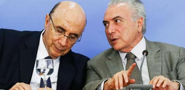 O ministro da Fazenda Henrique Meirelles e o presidente Michel Temer