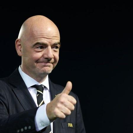 Gianni Infantino, presidente da Fifa, manteve rendimentos no ano pandêmico - GettyImages