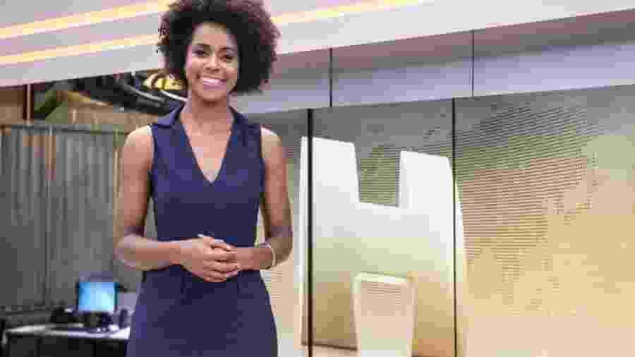 """Maria Júlia Coutinho, a Maju, no """"Jornal Hoje""""  - Divulgação/TV Globo"""