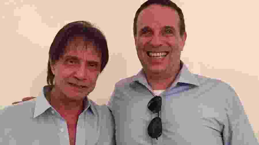 Roberto Carlos e filho Dudu Braga - Foto: Reprodução/Instagram