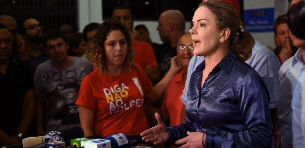 A senadora e presidente do Partido dos Trabalhadores Gleisi Hoffmann (PR) - Foto: Nelson Almeida/ AFP