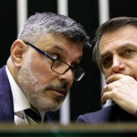Alexandre Frota e o presidente Bolsonaro - Agência Câmara