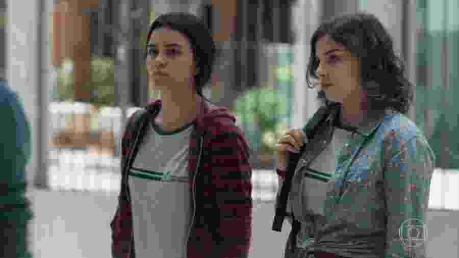 K1 (Talita Younan) e Keyla (Gabriela Medvedovski) em Malhação (Reprodução/TV Globo). - Reprodução / Internet