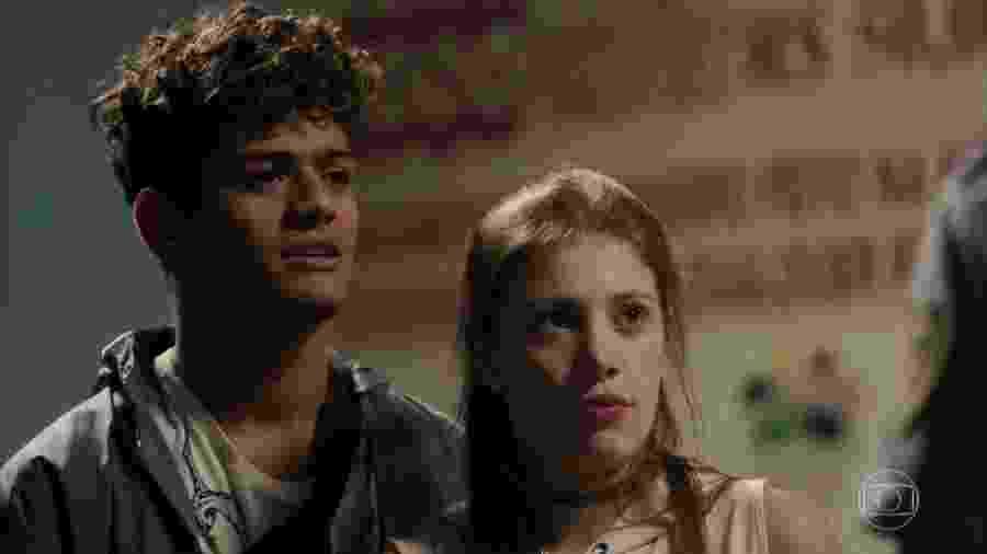 Anjinha (Caroline Dallarosa) e Cleber (Gabriel Santana) em Malhação (Reprodução/TV Globo). - Anjinha (Caroline Dallarosa) e Cleber (Gabriel Santana) em Malhação (Reprodução/TV Globo).