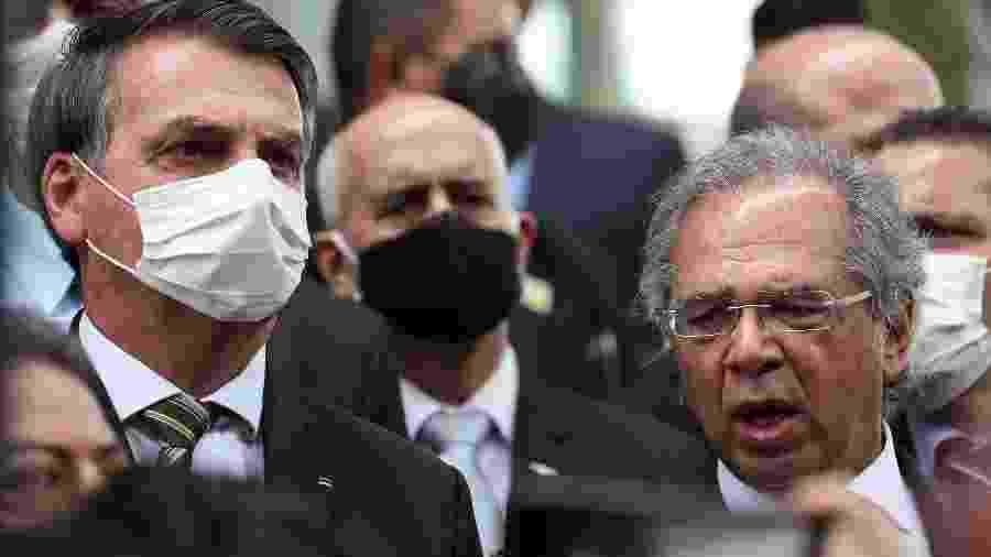 Logo após sair da visita ao presidente Supremo Tribunal  Federal, Dias Toffoli, na semana passada, Bolsonaro anunciou que atenderá ao pedido de veto de seu ministro Paulo Guedes - Marcos Corrêa/PR