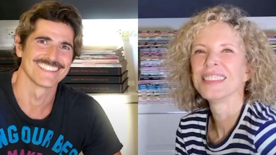 Reynaldo Gianecchini e Marília Gabriela (Foto: Reprodução/YouTube) - Reprodução / Internet