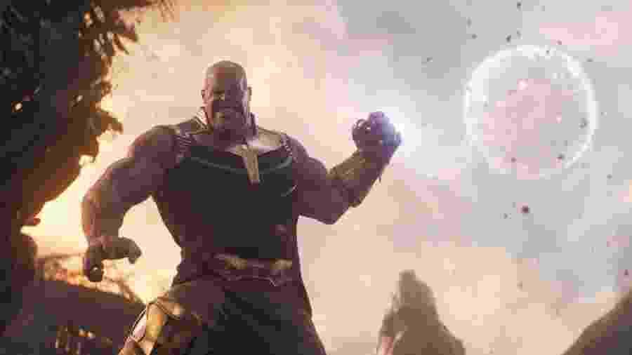 Marvel Studios AVENGERS: INFINITY WAR - O vilão Thanos, em Vingadores: Ultimato