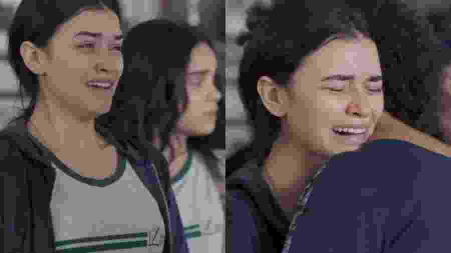 K1 (Talita Younan) e Dóris (Ana Flávia Cavalcanti) de Malhação - Viva a Diferença (Reprodução - TV Globo) - Reprodução / Internet