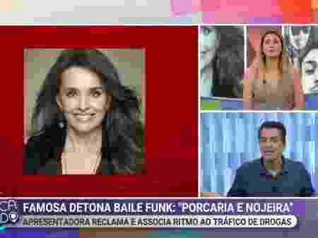 Leo Dias e Lívia Andrade falaram no Fofocalizando sobre polêmica envolvendo Carla Vilhena (Reprodução/SBT)