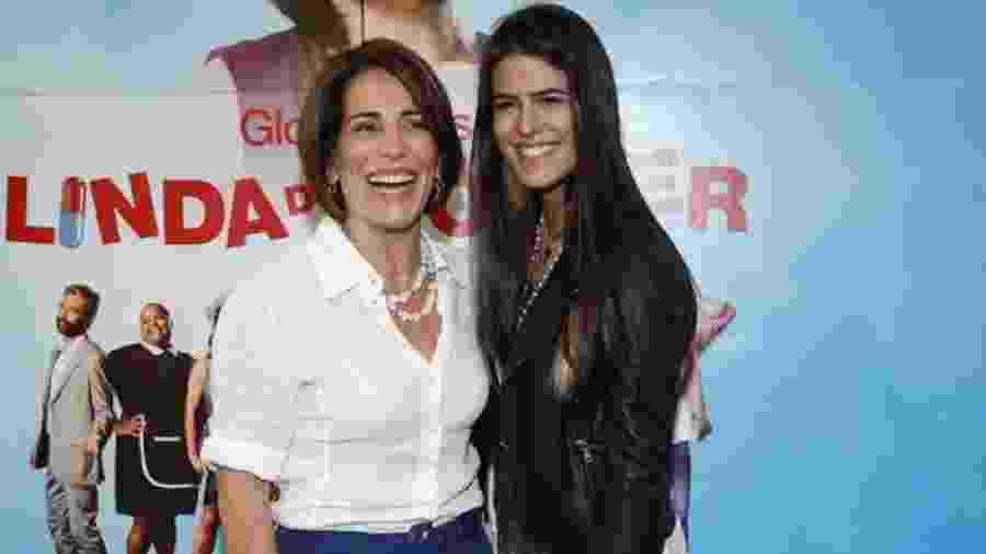 Glória Pires e a filha, Antônia Morais, que vai estrear na Record - Divulgação
