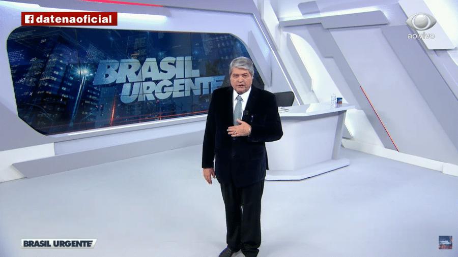 Datena apresenta o Brasil Urgente na Band: jornalista vai narrar Campeonato Italiano - Reprodução / Internet