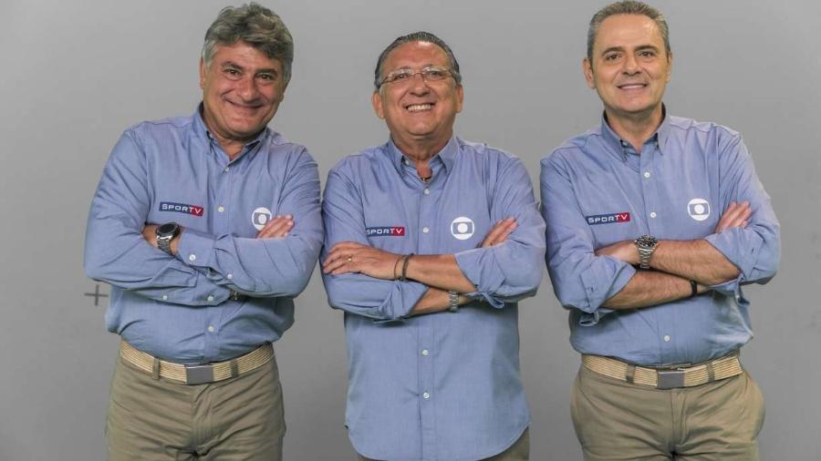 Cléber Machado, Galvão Bueno e Luís Roberto, os principais narradores do Esporte da Globo                     - João Miguel Júnior/Globo