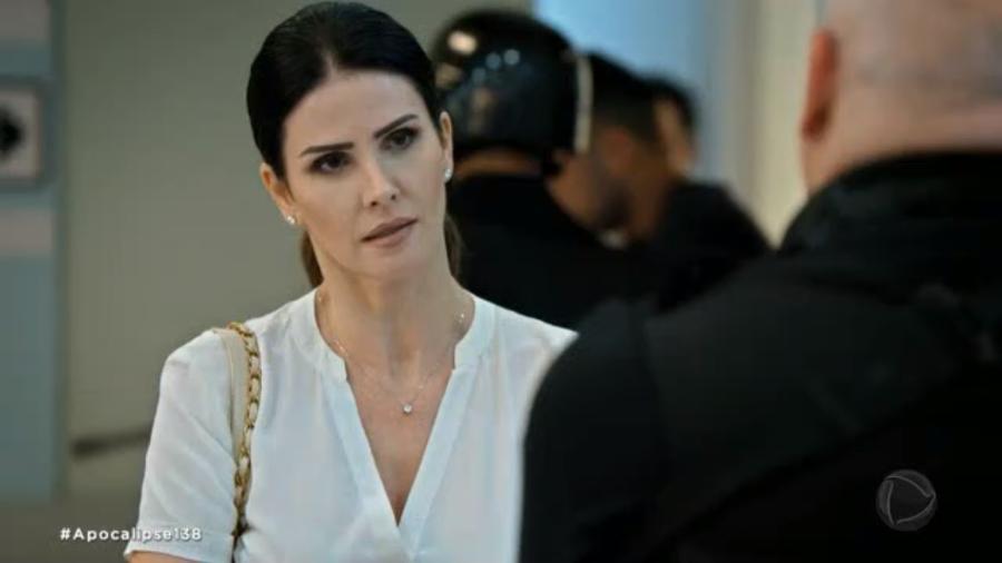 Estela (Lisandra Souto) em cena de Apocalipse (Reprodução / Record TV) - Reprodução / Internet