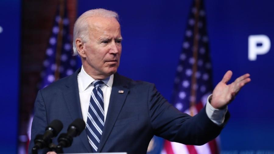 Biden fala a jornalistas durante coletiva                           -                                 JOE RAEDLE / GETTY IMAGES NORTH AMERICA / GETTY IMAGES VIA AFP
