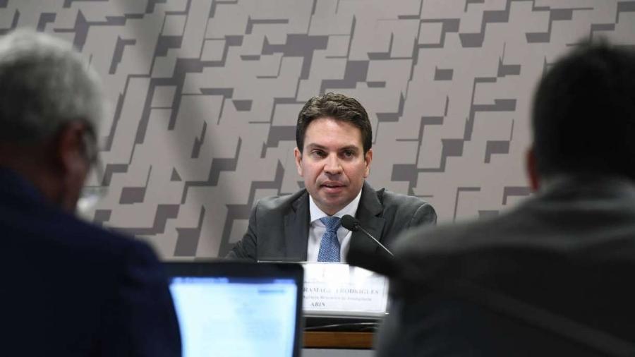Alexandre Ramagem é o chefe da Abin            -                                 Marcos Oliveira/Agência Senado