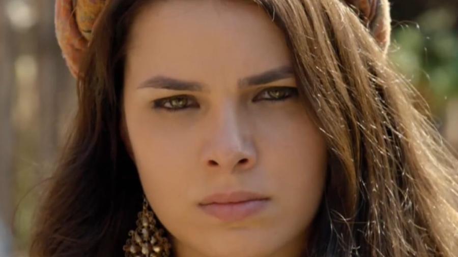 Raquel (Thaís Melchior) em Gênesis (Reprodução/Record TV) - Reprodução / Internet