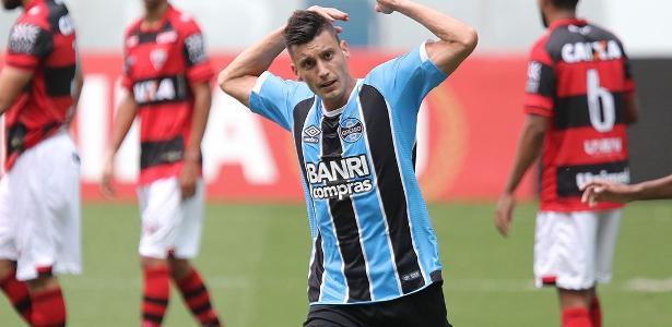 Poletto assinou com o Grêmio no ano passado e fez gol diante do Atlético-GO