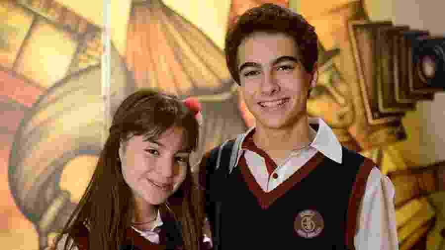 Sophia Valverde e Lucas Burgatti como Poliana e Eric em As Aventuras de Poliana (Divulgação / SBT) - Reprodução / Internet