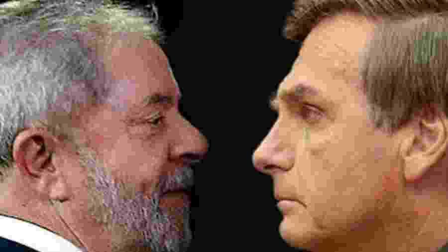 Lula e Bolsonaro (Reprodução)