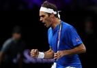 Federer supera Kyrgios de virada e recoloca Europa na liderança da Laver Cup - (Sem crédito)