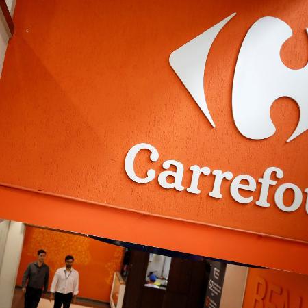 Logotipo do Carrefour em um supermercado da rede em São Paulo - Nacho Doce/Reuters
