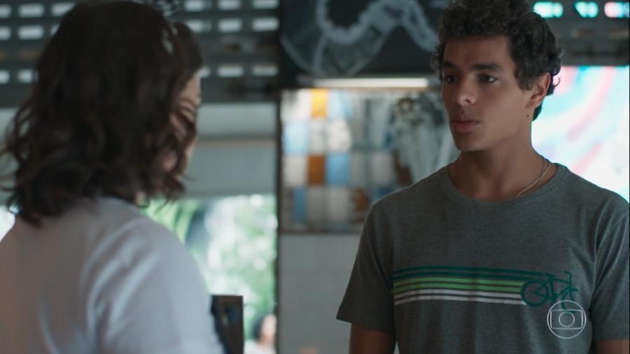 Keyla (Gabriela Medvedovski) e Tato (Matheus Abreu) em Malhação (Reprodução/TV Globo). - Reprodução / Internet