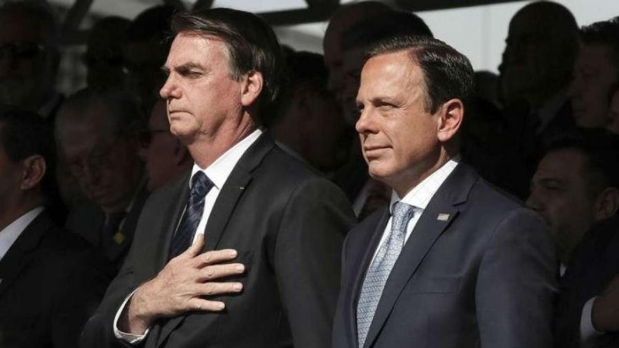 Presidente da República, Jair Bolsonaro (sem partido) e governador de São Paulo, João Doria (PSDB)                              -                                 MARCOS CORREIA/PR
